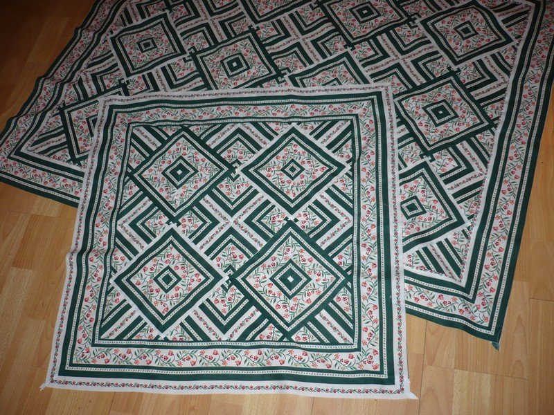 One fabric quilt